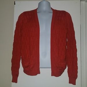 Anthropologie Tulle M Knit Pockets Open Cardigan